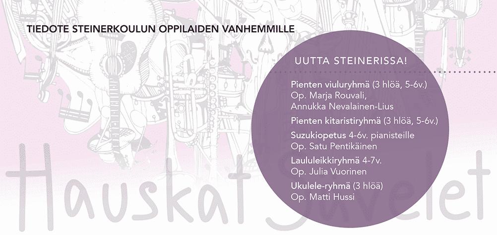 Musiikinopetusta Kariston ja Steinerin kouluilla!